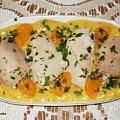 Kurczak gotowany w potrawce mandarynkowej #kurczak #PierśZKurczaka #drób #owoce #mandarynki #potrawka #obiad #jedzenie #gotowanie #kulinaria #PrzepisyKulinarne