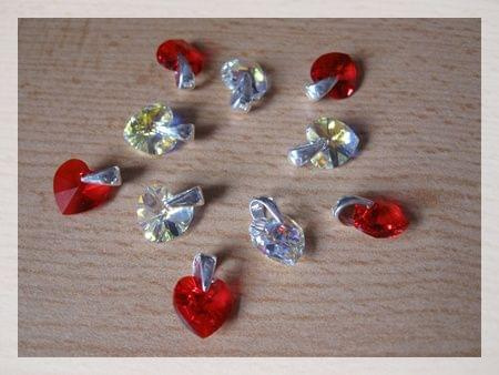 Wisiorek serce kryształ Svarowski (rozmiar kryształu 10mm/10mm z zawieszką srebrną pr.925 cena 9zł przesyłka 4zł