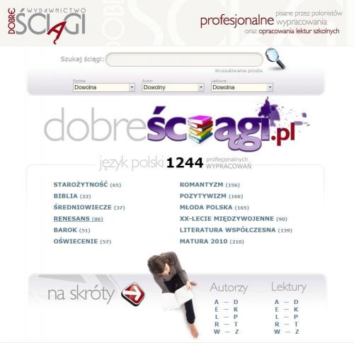 Dobre Ściągi - www.Dobresciagi.pl - 1244 opracowań #ściągi #ściaga #wypracowania #wypracowanie #nauka #szkoła #matura