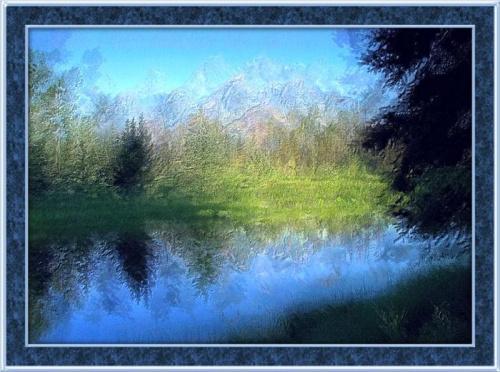 Kilka namalowanych...krajobraz nad wodny #malowane #MojePrace #krajobraz #widok