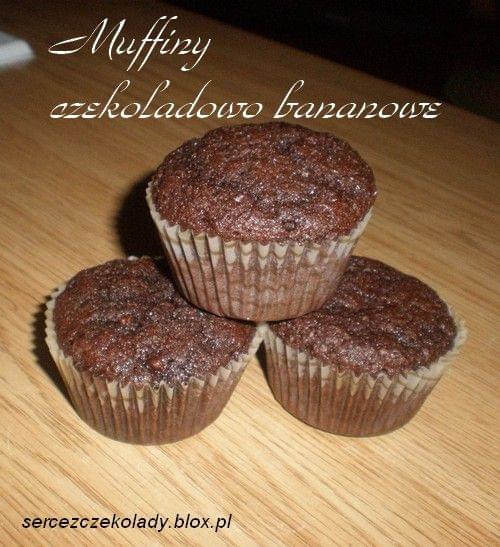 Muffiny czekoladowo- bananowe