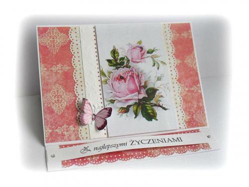 #kartka #życzenia #kwiaty #motyle