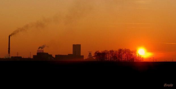 KWK Pniówek #ZachódSłońca #kopalnia #Śląsk #KWKPni