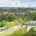 Tomaszów Mazowiecki widziany z okna wieżowca - panorama miasta z opisem #TomaszówMazowiecki #panorama