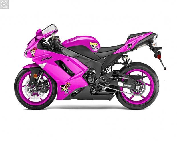 Kawasaki ninja #kawasaki #ninja #pink #atomówki #różowy #motor #ścigacz #motoryzacja #tuning #corel