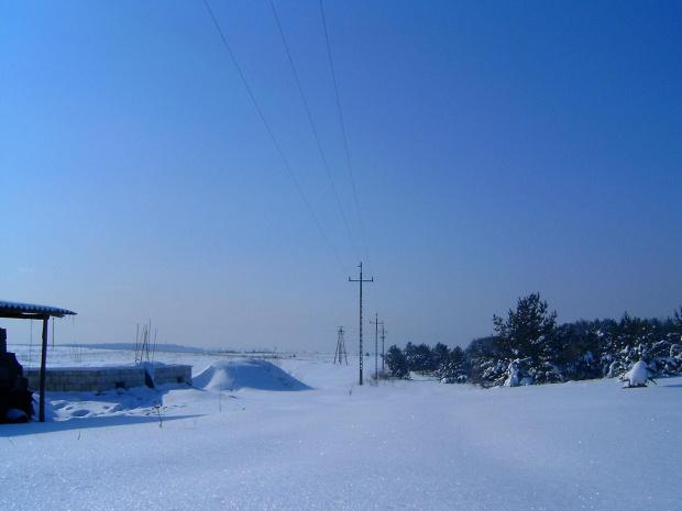 Zima w Osieku/k.Olkusza Piękny widok i słoneczny dzień. #zima #mróz #mroz #widok #słońce #slonce #snieg #zaspy #piękno #natura #niebo #drzewa #szron #gładkośc #gładź #gladz #połac #pole #spokój #ŁadnyDzień #działka