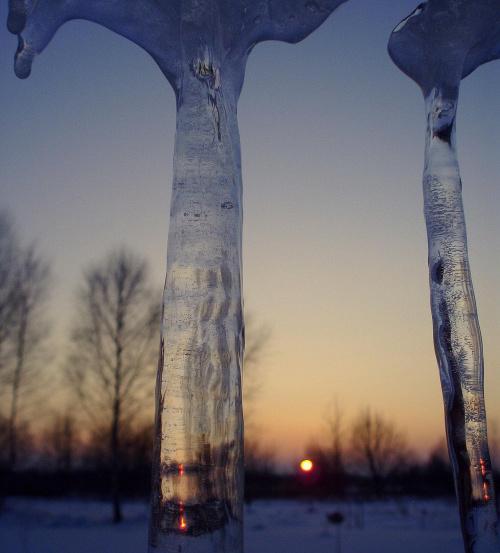 #słońce #sopel #zima